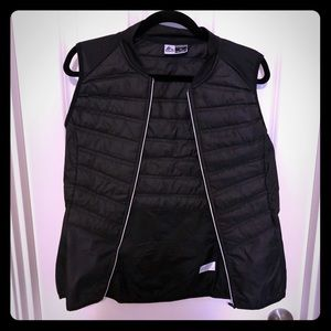Thin packable quilted running vest
